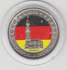 Deutschland  2 €  Hamburg  Michel  II   2008  coloriert  Farbmünze