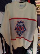 Super Bowl XXll Washington Redskins NFL Cliff Engle Vintage 80s Sweater Retro XL