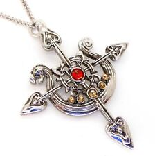 Yorvik Compass Dragon Longboat Pendant Necklace Lost Treasures of Albion LT14