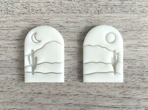 Landscape Set of 2 Embossers, Stamp For Fondant, Polymer Clay, Cookies, Ceramics