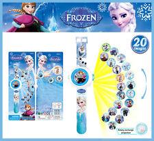 Fun Movie Frozen Princess Doll Figures Projection Wrist Watch Kids Boy Girl Toy