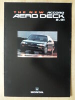 HONDA ACCORD AERODECK 2.0i orig 1993 UK Mkt Sales Leaflet Brochure
