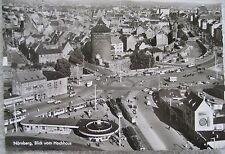 AK Postkarte Nürnberg Blick vom Plärrerhochhaus um 1960