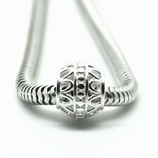 Abstract Decorative Openwork Spacer - Solid 925 Sterling Silver Charm Bead