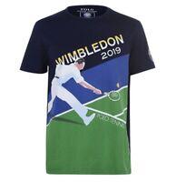 Rare Polo Ralph Lauren Men's 2019 Wimbledon Tennis Collection Navy TShirt Size M
