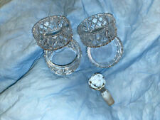 Acrylic Napkin rings set of 4 and a crystal wine/alcohol stopper