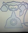 *~Embossing-Cutting-Dies-Poppy-Craft ~ Antique Phone ~ *