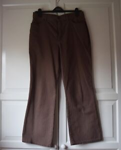 Marks and Spencer's Casual Trouser. Cocoa colour with a slight flair. Size 14S