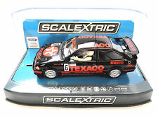 "Scalextric ""Texaco"" Ford Sierra RS500 PCR DPR W Lights 1/32 Scale Slot Car C3738"