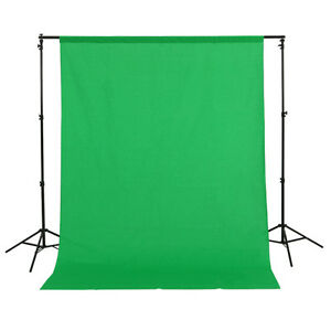 1.5x3m/5x10ft 100% Cotton Muslin PRO Photo Photography Backdrop Background Green