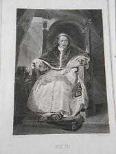 Gravure 19ème - Portrait de Pie VII