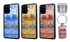 PERSONALISED Any Name Heart Silicone Case Cover For Samsung S20 FE S21 Plus