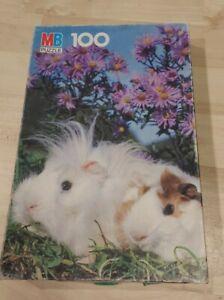 Vintage Milton Bradley Junior Puzzle 100 pieces Bunnies rabbits 1987