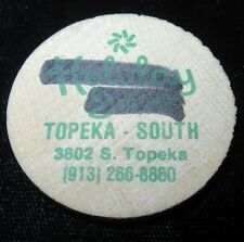 Vintage Wooden Nickel - Holiday Inn - South Topeka Kansas