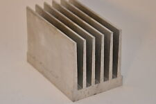 Aluminium-Kühlkörper, sehr massiv, ca. 120 x 75 mm, 83 mm Höhe, Alu Strangguß