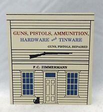 Cat's Meow Village - F.C. Zimmermann's Gun Shop - Wild West Series - #1891