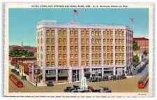 Mid-1900s Hotel Como, Hot Springs National Park, AR Postcard
