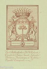 EX-LIBRIS de Robert AVRIL DE BUREY. Normandie-Franche-Comté.