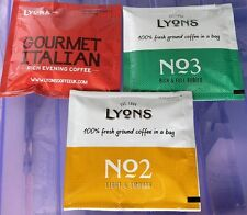 Lyons Coffee Bags - x 12 - Good Morning - Coffee Break - Gourmet Italian-Variety