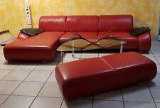Musterring MR 740 Eck-Sofa L-Form + Hocker Vollleder Neuwertig NP: 5041.-€