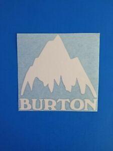 Burton Mountain Ski Snowboards Vinyl Truck Car Truck Vinyl Decal Sticker