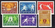 Poland - 1963 Fencing championship - Mi. 1405-10 MNH
