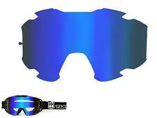 TWO-X BOMB Spiegelglas blau Ersatzglas MX Brillenglas verspiegelt