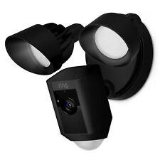 New listing Ring Floodlight Camera Hd Security Cam 2-Way Talk, Motion, Siren Alarm - Black