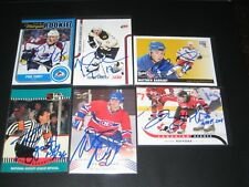 """TOMAS KABERLE autographed '11/12 BOSTON BRUINS """"Score"""" STANLEY CUP CHAMPS card"""
