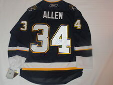 JAKE ALLEN SIGNED REEBOK PREMIER ST. LOUIS BLUES ALTERNATE JERSEY PROOF JSA COA
