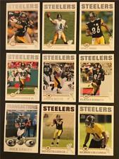 2004 Topps Pittsburgh Steelers Team Set 9 Cards Ben Roethlisberger RC