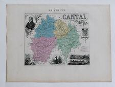 CANTAL Carte géographique Vuillemin Atlas Migeon Abbé De Pradt Aurillac Salers