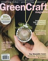 GREENCRAFT Stampington Winter 2016 80+ stylish and sustainable projects 144 pgs