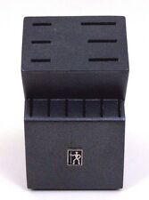 J.A. Henckels Charcoal Black Wooden Knife Block - 12 Slot Knife Storage 6 Stake