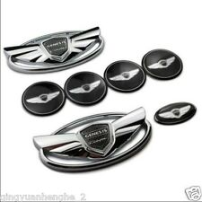 Hyundai Genesis Coupe Silver Chrome WING Logo Emblem Set 7pcs