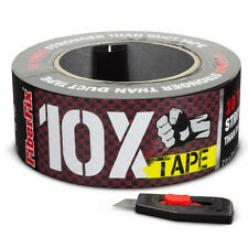 FIBERFIX 10X TAPE ALL-PURPOSE TAPE 10 TIMES STRONGER THAN DUCT TAPE RED & BLACK