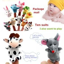 10x Family Finger Puppets Cloth Doll Baby Educational Hand Cartoon Animal Toy MT