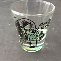 ONE FOR THE ROAD SHOT GLASS COVERED WAGON COWBOYS