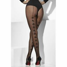Sexy Black Fishnet pantys con Satin Arcos Enfermera Mucama Gallina burlesco Fancy Dress