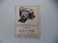 advertising Pubblicità 1953 ZEISS IKON CONTESSA