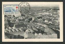 ALGERIE MK 1953 ROTES KREUZ RED CROSS CROIX-ROUGE CARTE MAXIMUM CARD MC CM 60632