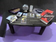 Witch's Ready for a reading  Table Dollhouse Miniatures 1:12