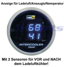 Ladeluft Temperaturanzeige 52mm IN + OUT Ansaugluft VR6 16V R32 Turbo Clet Zlet