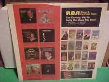 RCA RECORDS INNER SLEEVE ART ONLY NO RECORD 12 IN 21-112-1-43
