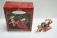 Hallmark Keepsake Ornament - Christmas Sleigh Ride Santa Die-Cast Metal - 1998