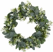 Christmas Artificial Flowers Wreath Outdoor Home Decor Hanging Pendant Garland