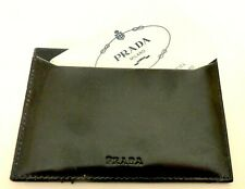 GENUINE PRADA CALF LEATHER BUSINESS-CARD HOLDER W/CERT. NEVER CARRIED. ITALY
