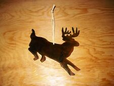 Western Rustic Christmas Ornament Jumping Deer Holiday Home Decor Country