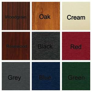 PVC UPVC Flat Infill Door Panel 20 24 28mm Woodgrain Oak Cream Rosewood Colours
