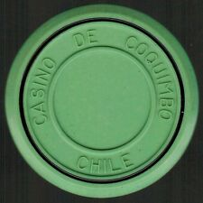 Chile Casino Chip- Casino de Coquimbo - valueless - roulette verde claro/negro